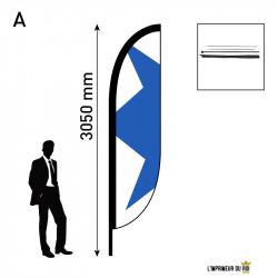 Beach flag 3m (M) convex...