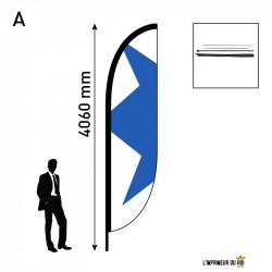 Beach flag 4m (L) convex...