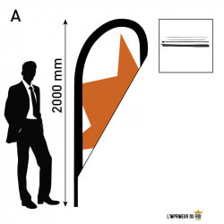 Beach flag 2m (S) drop...