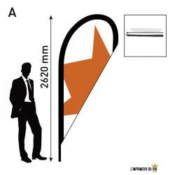 Beach flag 2.6m (M) goutte...