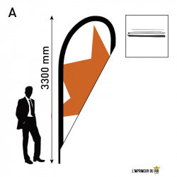 Beach flag 3.3m (L) drop...