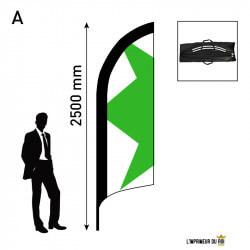 Beach flag 2.5m (S) feather...