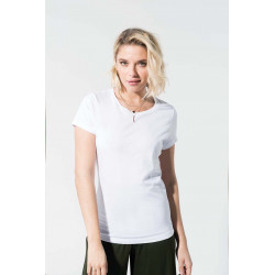 Tee-shirt coton bio col rond femme -