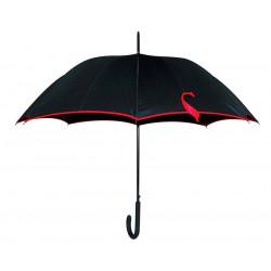 Parapluie Paris Rive Gauche - Noir et galon rouge