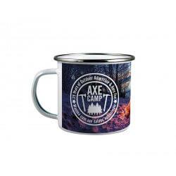 White enamelled mug 300 ml