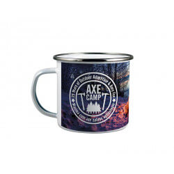 White enamelled mug