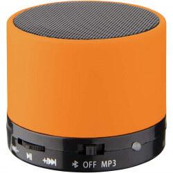 Haut-parleur cylindrique revêtement gomme - Orange