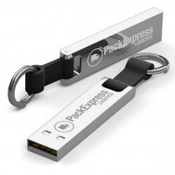 Chrome Branded Iron Elegance USB flash drive