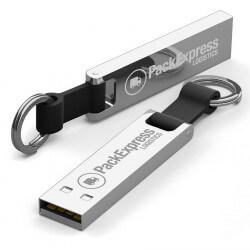 Chrome Branded Iron Elegance USB flash drive