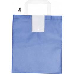 Sac shopping pliable Oxford  - Blanc et bleu roi
