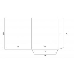 Chemise à rabats A4 classique