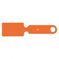Étiquette bagage PVC - Orange