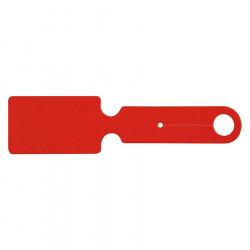 Étiquette bagage PVC - Rouge