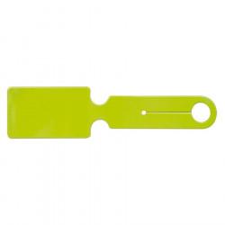 Étiquette bagage PVC - Vert pomme