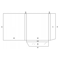 A4 Folder flap 5mm +...