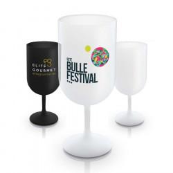 Reusable plastic wine glass...