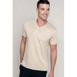 Tee-shirt homme col V manches courtes  -