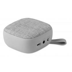 Enceinte Bluetooth Tissu Carré - Gris