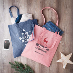 100% recycled cotton tote...