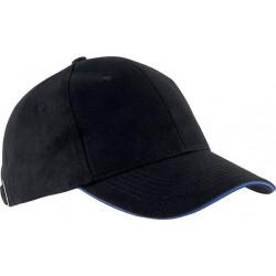 Casquette 6 pans - Noir et bleu roi