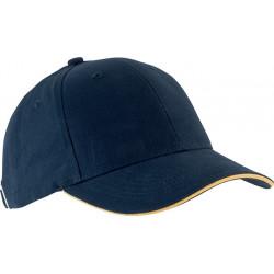 Casquette 6 pans - Bleu marine et jaune