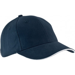 Casquette 6 pans - Bleu marine  et blanc