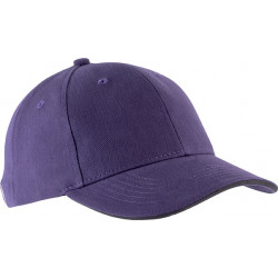 Casquette 6 pans - Violet et gris foncé