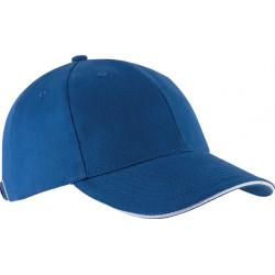 Casquette 6 pans - Bleu roi et blanc
