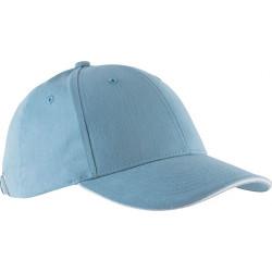 Casquette 6 pans - Bleu ciel et blanc