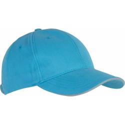 Casquette 6 pans - Bleu surf et gris clair