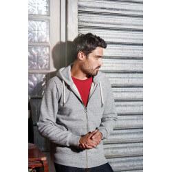 Sweat-shirt vintage zippé à capuche homme -
