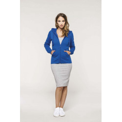 Sweat-shirt zippé capuche femme -