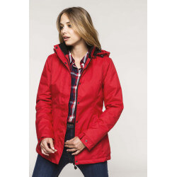 Women's parka with quilted...