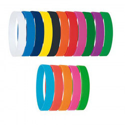 Colored silicone bracelet