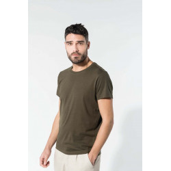Tee-shirt coton bio col rond homme -