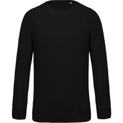 Sweat-shirt bio col rond manches raglan homme - Noir