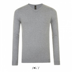 Pull homme col V Glory - Gris chiné 350