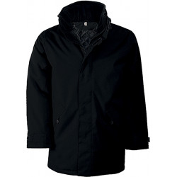 Men's parka with quilted...