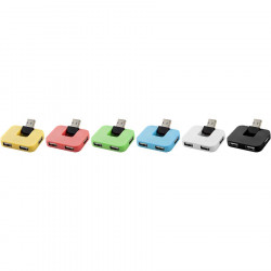 Hub USB 4 ports Gaia - 6 couleurs
