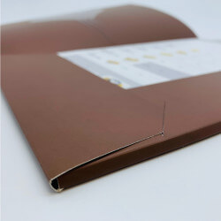 A4 folder flaps with double...