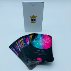 +/- 50 cards + Tuck Box
