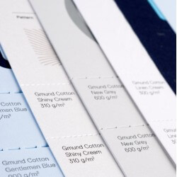 Gmund single fold leaflet