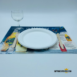 100% Recycled paper placemats