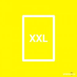 Affiche fluo jaune XXL