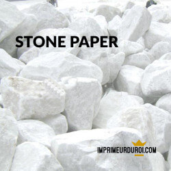 Stone paper folded leaflet