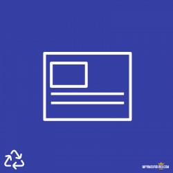 Carte postale papier recyclé