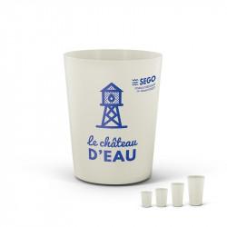 Biocomposite cup 120 ml