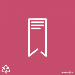 Marque page recyclé