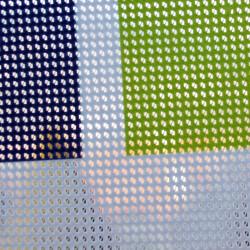 Microperforated mesh tarpaulin