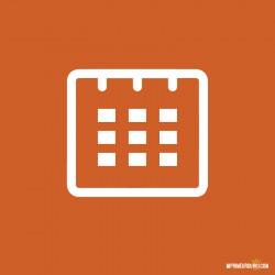 Compact cardboard calendar